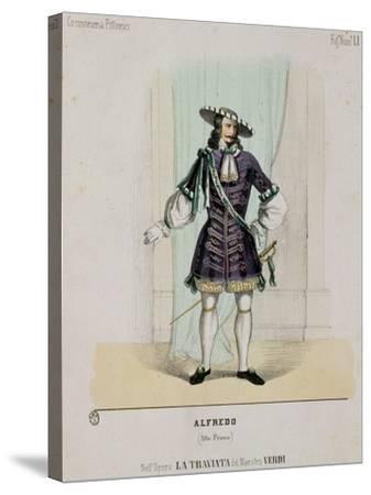 Portrait of Alfredo from the Opera 'La Traviata'--Stretched Canvas Print