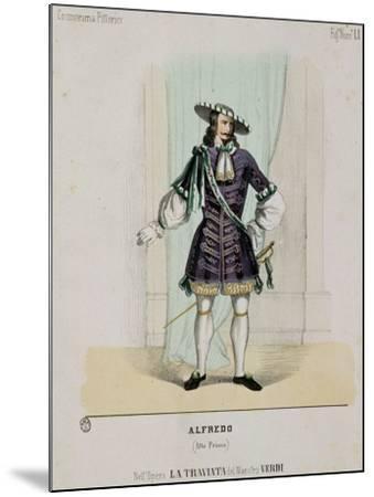 Portrait of Alfredo from the Opera 'La Traviata'--Mounted Giclee Print