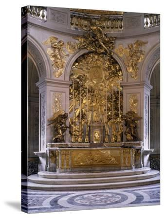 France, Palace of Versailles, Royal Chapel, Marble Altar and Great Altarpiece in Gilded Bronze--Stretched Canvas Print