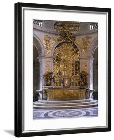France, Palace of Versailles, Royal Chapel, Marble Altar and Great Altarpiece in Gilded Bronze--Framed Photographic Print
