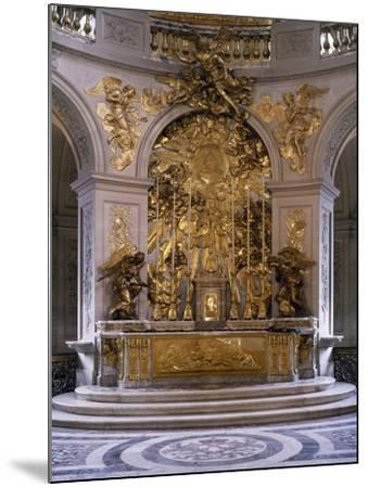 France, Palace of Versailles, Royal Chapel, Marble Altar and Great Altarpiece in Gilded Bronze--Mounted Photographic Print
