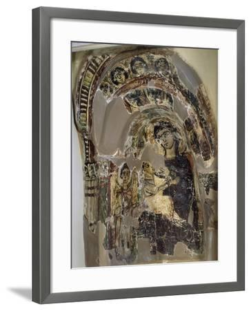 Niche with Virgin Suckling Child Jesus, Tempera, from Saqqara Monastery of S Geremia, Egypt--Framed Giclee Print