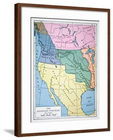 The Louisiana Purchase of 1803--Framed Giclee Print