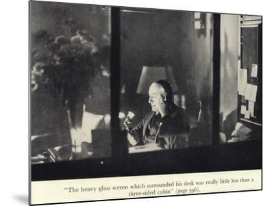 Portrait of Edgar Wallace at His Desk--Mounted Photographic Print