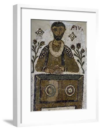 Tomb Mosaic Depicting Scribe, from Tabarka, Tunisia, Early Christian Period, 4th-5th Century--Framed Giclee Print