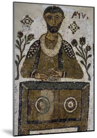 Tomb Mosaic Depicting Scribe, from Tabarka, Tunisia, Early Christian Period, 4th-5th Century--Mounted Giclee Print