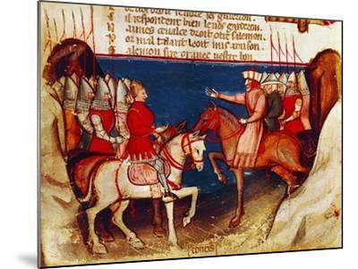 Signing of a Truce, Miniature from the Entree D'Espagne Manuscript--Mounted Giclee Print