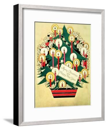 Merry Christmas and a Happy New Year', Christmas Card--Framed Giclee Print