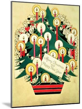 Merry Christmas and a Happy New Year', Christmas Card--Mounted Giclee Print
