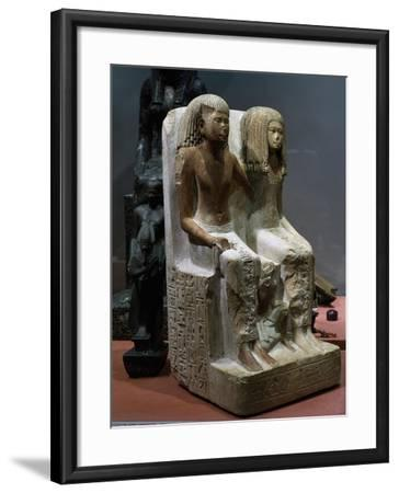 Nefer-Hebef with His Wife and Son, 1420-1400 BC--Framed Giclee Print