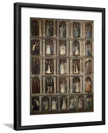 Religious Attire of Neo-Hispanic Convents--Framed Giclee Print