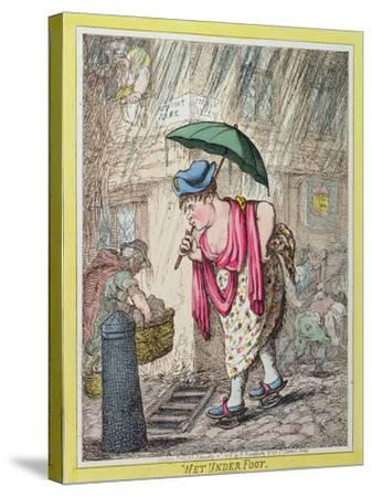 Wet under Foot, Published by Hannah Humphrey in 1812--Stretched Canvas Print