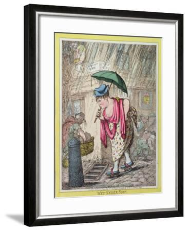 Wet under Foot, Published by Hannah Humphrey in 1812--Framed Giclee Print