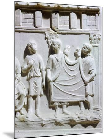 A Seller of Cloth, Detail of Relief from Tuscany--Mounted Giclee Print