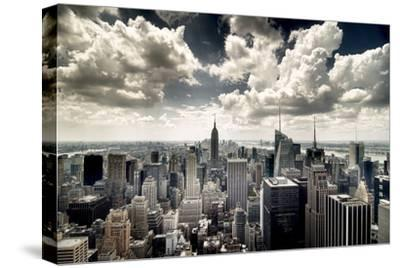 View of Manhattan, New York-Steve Kelley-Stretched Canvas Print
