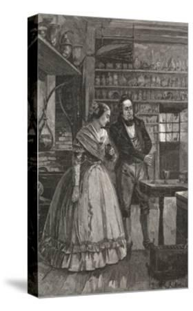 Michael and Mrs. Faraday Observing Experiment--Stretched Canvas Print