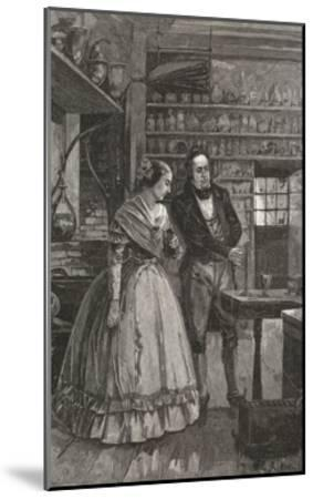 Michael and Mrs. Faraday Observing Experiment--Mounted Giclee Print