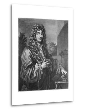 Portrait of Physicist Christiaan Huygens--Metal Print