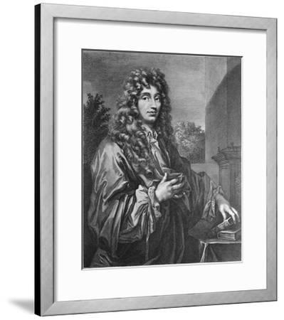 Portrait of Physicist Christiaan Huygens--Framed Giclee Print
