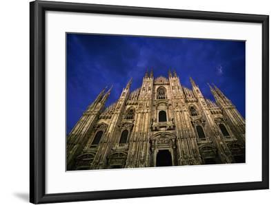 Italy, Lombardy, Milan, Duomo, Florence Cathedral at Dusk-Walter Bibikow-Framed Photographic Print