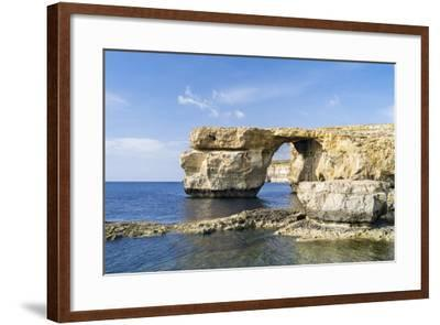 Azure Window, a Natural Arch at the Coast of Gozo, Malta-Martin Zwick-Framed Photographic Print