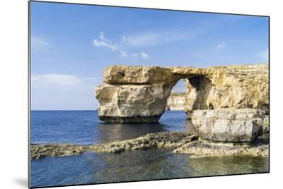 Azure Window, a Natural Arch at the Coast of Gozo, Malta-Martin Zwick-Mounted Photographic Print