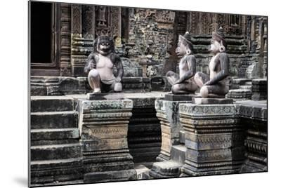 Cambodia, Angkor Wat. Banteay Srei Temple, Three Monkey Statues-Matt Freedman-Mounted Photographic Print
