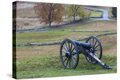 USA, Pennsylvania, Gettysburg, Battle of Gettysburg, Civil War Cannon-Walter Bibikow-Stretched Canvas Print