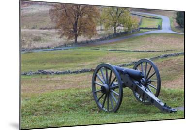 USA, Pennsylvania, Gettysburg, Battle of Gettysburg, Civil War Cannon-Walter Bibikow-Mounted Photographic Print