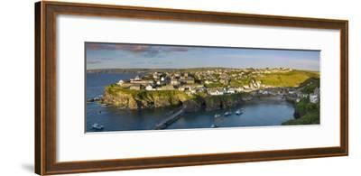Panoramic View over Port Isaac, Cornwall, England-Brian Jannsen-Framed Photographic Print