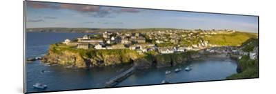 Panoramic View over Port Isaac, Cornwall, England-Brian Jannsen-Mounted Photographic Print