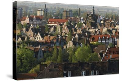 Poland, Pomerania, Gdansk. Town-Walter Bibikow-Stretched Canvas Print