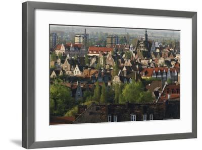 Poland, Pomerania, Gdansk. Town-Walter Bibikow-Framed Photographic Print