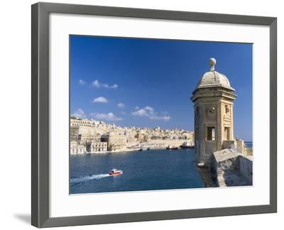 View of Valletta with Grand Harbor Seen from Senglea, Valletta, Malta-Martin Zwick-Framed Photographic Print