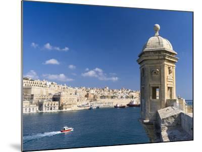 View of Valletta with Grand Harbor Seen from Senglea, Valletta, Malta-Martin Zwick-Mounted Photographic Print