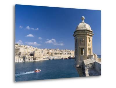 View of Valletta with Grand Harbor Seen from Senglea, Valletta, Malta-Martin Zwick-Metal Print