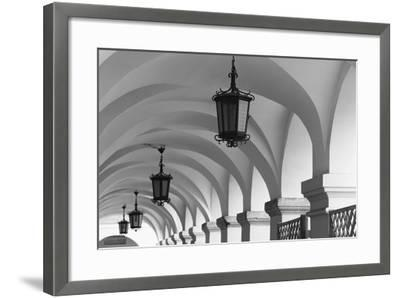 Poland, Malopolskai Province, Zamosc. Town Square-Walter Bibikow-Framed Photographic Print