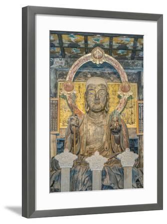 Japan, Kanagawa, Kamakura, Kenchoji Temple Buddha-Rob Tilley-Framed Photographic Print