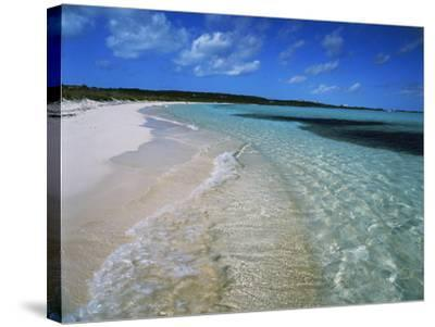 Bahamas. Pristine Beach-Kent Foster-Stretched Canvas Print