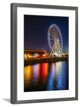 USA, Washington, Seattle. the Seattle Great Wheel on the Waterfront-Richard Duval-Framed Photographic Print