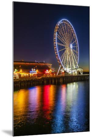 USA, Washington, Seattle. the Seattle Great Wheel on the Waterfront-Richard Duval-Mounted Photographic Print