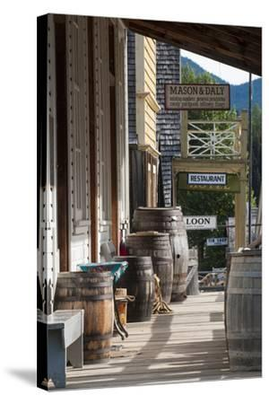 Main Street in Old Gold Town Barkerville, British Columbia, Canada-Michael DeFreitas-Stretched Canvas Print