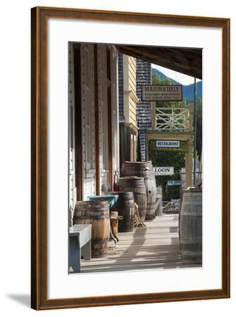 Main Street in Old Gold Town Barkerville, British Columbia, Canada-Michael DeFreitas-Framed Photographic Print