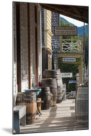 Main Street in Old Gold Town Barkerville, British Columbia, Canada-Michael DeFreitas-Mounted Photographic Print