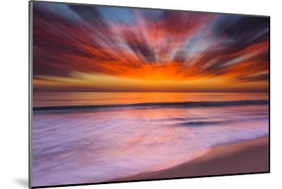 Sunset Abstract from Tamarack Beach in Carlsbad, Ca-Andrew Shoemaker-Mounted Photographic Print