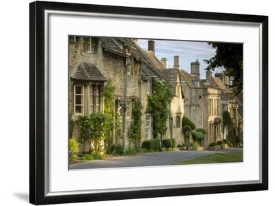 Connected Cottages in Burford, Cotswolds, Oxfordshire, England-Brian Jannsen-Framed Photographic Print