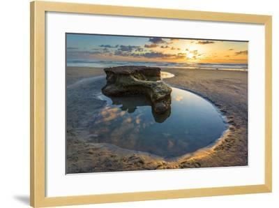 Rock Formations at Swamis Beach in Encinitas, Ca-Andrew Shoemaker-Framed Photographic Print