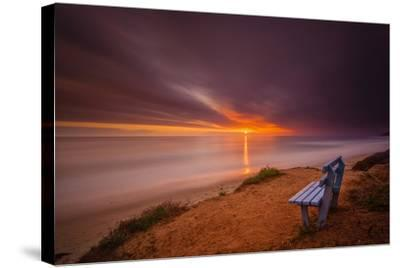 Sunset over the Pacific Ocean in Carlsbad, Ca-Andrew Shoemaker-Stretched Canvas Print
