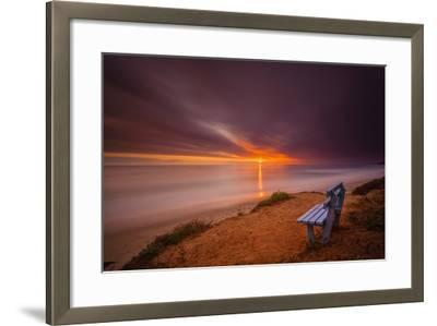 Sunset over the Pacific Ocean in Carlsbad, Ca-Andrew Shoemaker-Framed Photographic Print