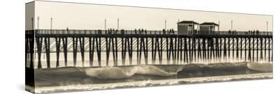 Waves at the Oceanside Pier in Oceanside, Ca-Andrew Shoemaker-Stretched Canvas Print